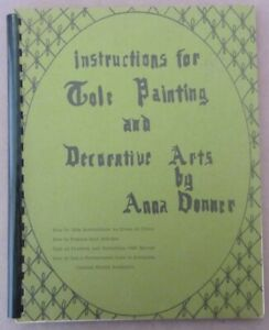 Instructions for Tole Painting  +Decorative Arts Book by Donner Step byStep 1969