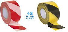 Barrier Tape Hazard Warning Non Adhesive Red&White Black&Yellow 80mm x 100m