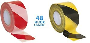 Barrier Tape Hazard Warning Non Adhesive Red&White Black&Yellow 80mm x 100m