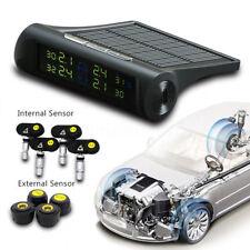 Solar Wireless Auto TPMS Reifendruck Kontrollsystem Monitor + 4 Außen Sensoren#