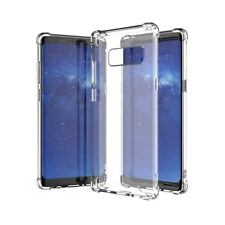 For Samsung Galaxy Note 9/8/S9+ Shockproof Clear Back Soft Rubber TPU Case Cover