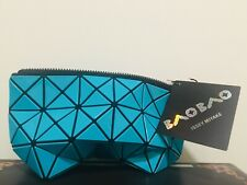 New BAO BAO ISSEY MIYAKE Prism Teal Pouch Small Zip Clutch Bag Very Rare