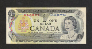 1 DOLLAR VERY FINE BANKNOTE FROM CANADA 1973 PICK-85