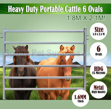 1.8M x 2.1M Heavy Duty Portable Cattle Yard Panel 6 Oval Bars 1.6mm Thick BNE