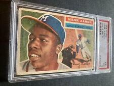 New listing 1956 Topps #31 Hank Aaron Milwaukee Braves White Back PSA 3 VG
