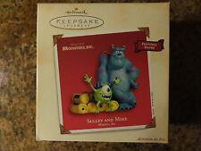 Disney Hallmark holiday ornament SULLEY & MIKE  Monsters, INC Pixar sound