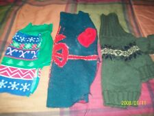 LOT OF 3 DOG SWEATERS FOR SMALL DOG PET CLOTHING