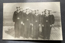 📸Vintage Photo Sailors CoupLe Guys Males Uniform Old Photograph Snapshot