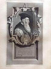 GARDINER Stephen Obispo católica Retrato PIA GUNST Aguafuerte XVIII sec