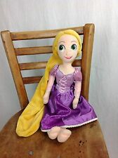 "Disney Store Rapunzel Tangled Plush Doll 20"" Purple Dress Soft Toy Princess"