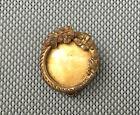 Ancienne broche métal porte photo dorée art pop french antique jewel