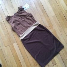 Jolie robe marron ÉTINCELLE Couture taille 1 ou 36