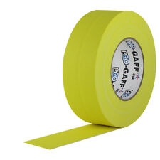 Pro Tapes 4 Inch x 50 Yards Pro Gaffer Tape - Yellow