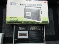 VINTAGE RETRO PYE RADIO / CASSETTE 9015 with box inner packing + instructions