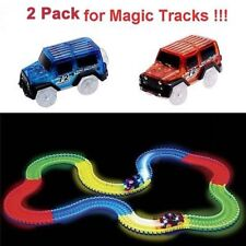 Replacement Toy Cars for Magic Tracks Neon Glow | Light Up Police Car And Race