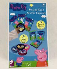 Nickelodeon Peppa Pig Playing Card Games Superset Card Holders Multiple Decks