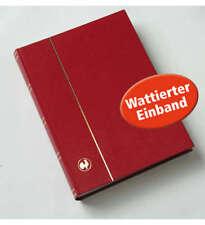 60 weiße Seiten hellrot Einsteckbuch Einsteckalbum Briefmarkenalbum wattierter E