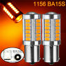 2x 1156 BA15S 33 LED 5730 SMD Gelb Rücklicht Bremslicht Rückfahrlicht Birne 12V