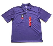 NEW Kirkland Signature Men's Performance Polo Shirt Purple, Size M Medium