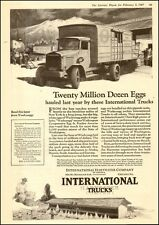 1927 Antique Classic INTERNATIONAL Truck AD ART Special Delivery Eggs 040317