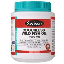 Swisse Odourless Wild Fish Oil 1000mg 500 Capsules Large Size cheap price