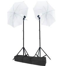 32'' Umbrella Studio Lighting 2 Constant Lights Kit Professional Daylight Bulbs