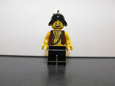 Lego Pirate Minifigure With Chest Hair And Conquistador Black Helmet