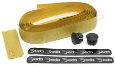 Deda Elementi Logo Road Bicycle Handlebar Bar Tape Fixie - Carbon Look Gold