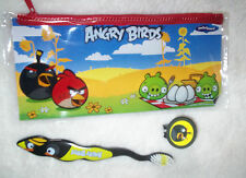 Angry Birds Travel Toothbrush 3 pc set 3 colors to pick With Case Brush & cover