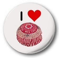 "I LOVE TUNNOCKS TEA CAKES - 25mm 1"" Button Badge - Novelty Cute Joke Heart"
