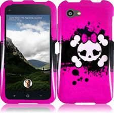 For AT&T HTC First HARD Protector Case Snap On Phone Cover Pink Skull accessory