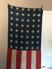 RARE Antique US 48 Star American Flag Bunting Vintage Bunting WWII *READ, AS IS*