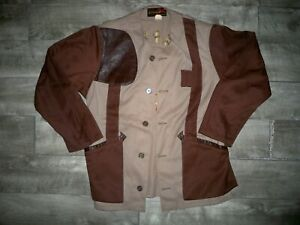 Vintage 10-X 10X Duck Hunting Canvas Trap Shooting Jacket Coat Men's Size 44