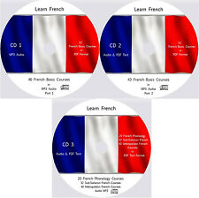 Learn to Speak French,181 Audio & PDF French eBook Courses on 3 MP3 CD's