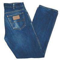 RM Williams Mens Blue Denim Jeans Size 32 R Made In Australia TJ788