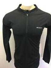 Columbia Active Wear Men's 1/2 Zip Long Sleeve Black Compression Shirt Size Xl