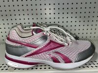 Reebok Easytone Womens Athletic Walking Toning Shoes Size 9.5 White Pink Gray