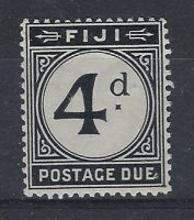 Fiji 1918 KGV Postage Due 4d black MINT  SG D10. SEE SCAN. POST FREE WITHIN UK.