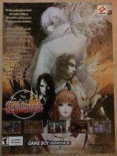 Castlevania Aria of Sorrow Poster Ad Print Game Boy Advance