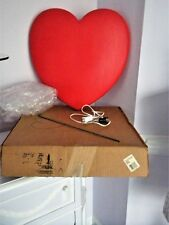 New Original Box Vtg Union Valentine Red Heart Lighted Blow Mold W/Metal Stake