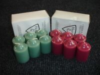 HOME & ART 6 SCENTED FRAGRANCE VOTIVES GREEN MINT PURPLE VIOLET SPELL CANDLES