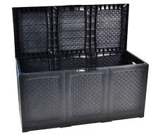 Gartentruhe Rollen Auflagebox Gartenkissenbox 120x52x60 Aufbewahrungsbox Hippo