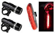 two front & rear LED bike lights set for mountain road city bike bicycles