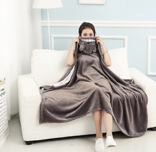 My Neighbor Totoro Blanket Cape Cloak NAP Coral fleece Cos Gift Big 90 x160CM #