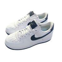 New Nike Women's Air Force 1 07 White/Obsidian AH0287-108 Size 9 Navy Swoosh