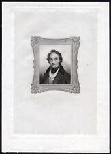 Antique Print-PORTRAIT OF A MAN-19TH CENTURY-1840