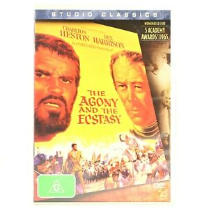 Agony And The Ecstasy Charles Heston Michaelangelo Drama DVD R4 Good Condition