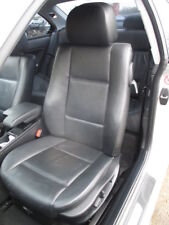 BMW E46 3 SERIES COUPE SET OF 4 SEATS + DOOR CARDS BLACK LEATHER HEATED MEMORY