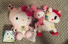 Sanrio Hello Kitty Tokidoki Plush Lot Unicornio Pink Tiger NWT 2012 2013