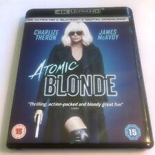 2017 Atomic Blonde 4K UHD Blu-Ray Disc ONLY Box Film Movie Charlize Theron